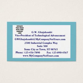 Serene Blue Mission Statement Business Card