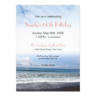 Serene Blue Ocean Scene Invitation