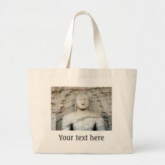 Serene Buddha Image Jumbo Tote Bag