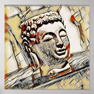 Serene Buddha in Earthtones Poster