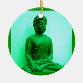 Serene Buddha meditating Ceramic Ornament