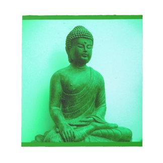 Serene Buddha meditating Memo Notepad