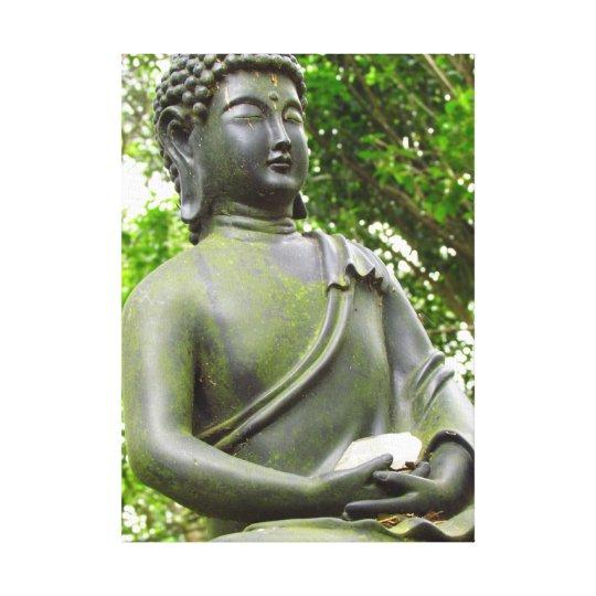 Serene Buddha Statue Canvas Print