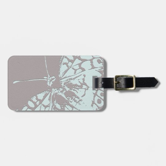 Serene Butterfly Luggage Tag