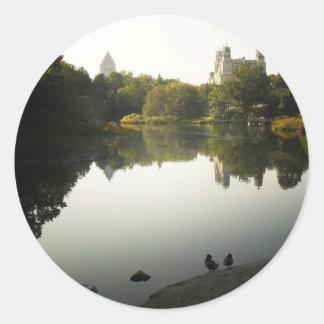 Serene Central Park Landscape, New York City Classic Round Sticker