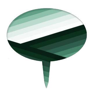 Serene Contemporary Green Ombre Design Cake Topper