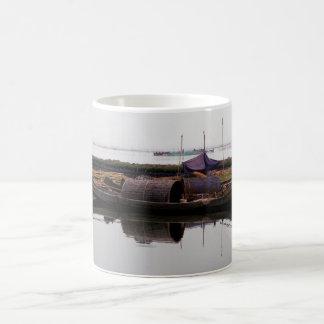 'Serene fishing village' mug