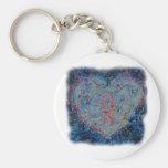 Serene Heart Keychains