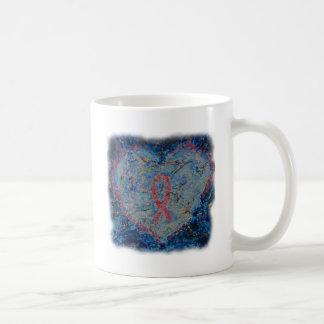 Serene Heart Classic White Coffee Mug