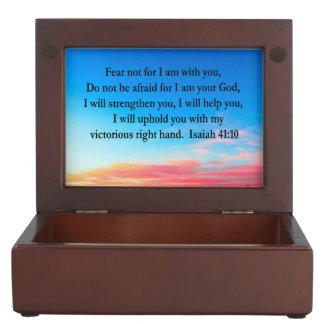SERENE ISAIAH 41:10 SUNRISE PHOTO KEEPSAKE BOX