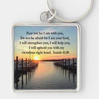 SERENE ISAIAH 41:10 SUNSET PHOTO DESIGN KEYCHAIN