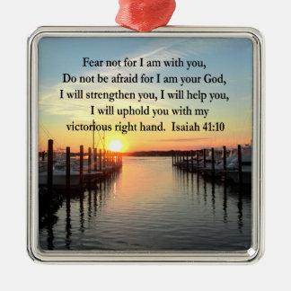 SERENE ISAIAH 41:10 SUNSET PHOTO DESIGN METAL ORNAMENT