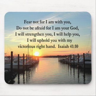 SERENE ISAIAH 41:10 SUNSET PHOTO DESIGN MOUSE PAD