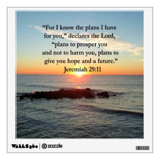 SERENE JEREMIAH 29:11 SUNRISE WALL STICKER