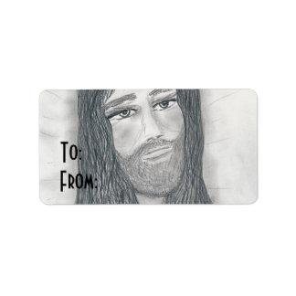 Serene Jesus Address Label