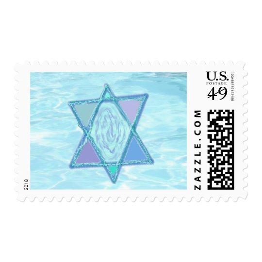Serene Jewish Star Stamp
