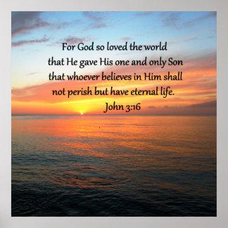 SERENE JOHN 3:16 SUNRISE PHOTO POSTER
