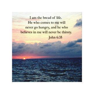 SERENE JOHN 6:35 SUNRISE PHOTO DESIGN CANVAS PRINT