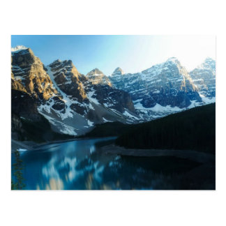 Serene Lake Moraine Banff National Park Postcard