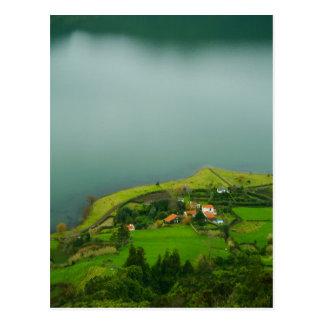 Serene landscape postcard