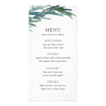 Serene Leaves Wedding Menu Card
