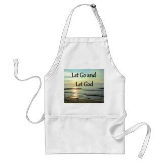 SERENE LET GO AND LET GOD OCEAN PHOTO ADULT APRON