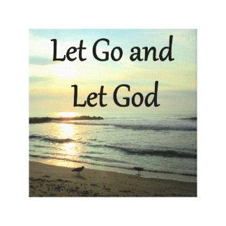 SERENE LET GO AND LET GOD OCEAN PHOTO CANVAS PRINT
