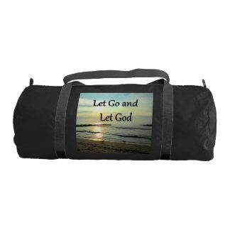SERENE LET GO AND LET GOD OCEAN PHOTO GYM BAG