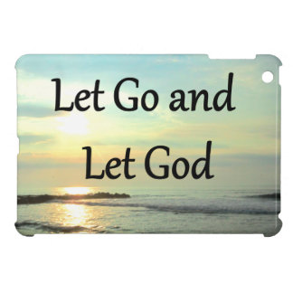 SERENE LET GO AND LET GOD OCEAN PHOTO iPad MINI COVERS