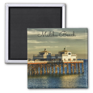 Serene Malibu Beach Pier California Magnet