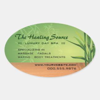 Serene Massage and Spa Oval Sticker
