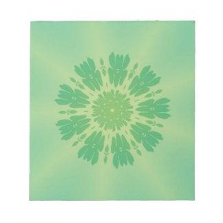Serene Mellow Green Kaleidoscope Memo Notepads