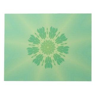 Serene Mellow Green Kaleidoscope Notepads