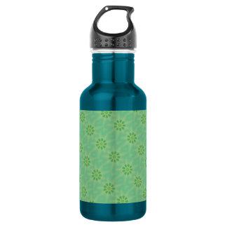 Serene Mellow Green Kaleidoscope Stainless Steel Water Bottle