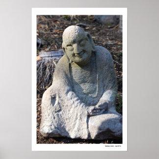 Serene Monk Poster