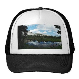 Serene Mountain Pond Trucker Hat