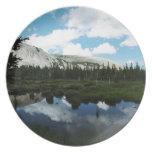 Serene Mountain Pond Plate
