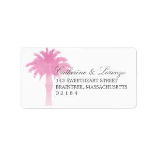 Serene Palm Tree Watercolor | Address Label