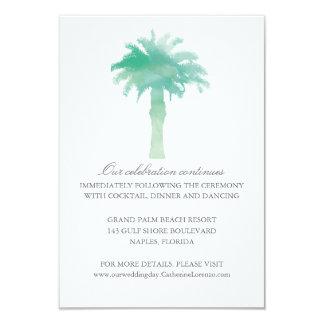 Serene Palm Tree Watercolor  | Reception Card