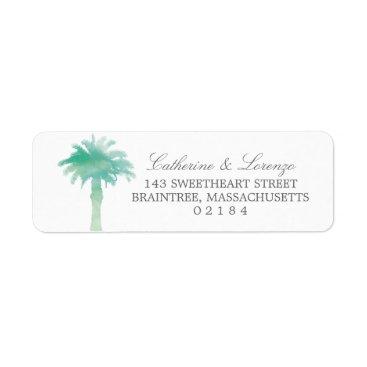 labellarue Serene Palm Tree Watercolor | Return Address Label