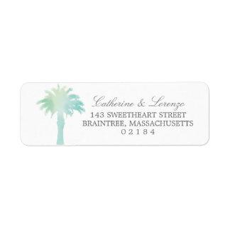 Serene Palm Tree Watercolor | Return Address Return Address Label