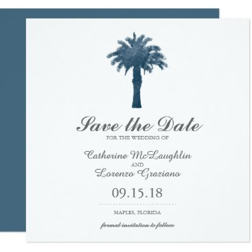 Beach Themed Serene Palm Tree Watercolor | Save the Date Card