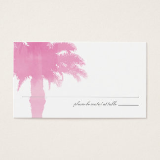 Serene Palm Tree Watercolor | Seating Card