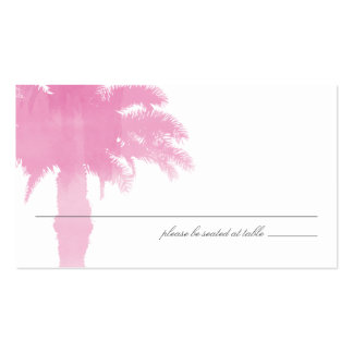 Serene Palm Tree Watercolor | Seating Card Double-Sided Standard Business Cards (Pack Of 100)