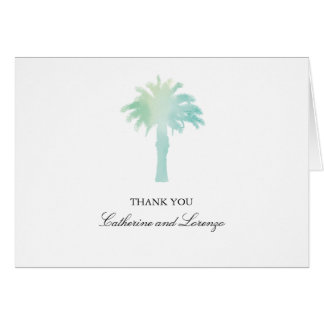 Serene Palm Tree Watercolor | Thank You Stationery Note Card