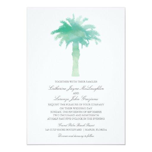 Serene Palm Tree Watercolor