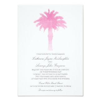Serene Palm Tree Watercolor  | Wedding 5x7 Paper Invitation Card