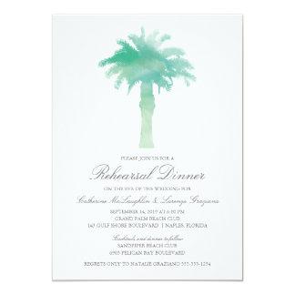 Serene Palm Tree Watercolor  | Wedding Rehearsal Card