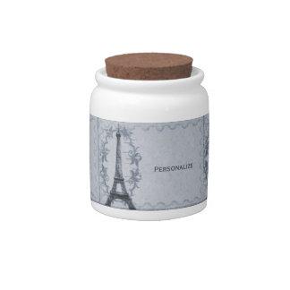 Serene Paris Grunge Jar Candy Jar