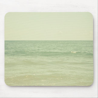 Serene Pastel Photograph Mint Green Ocean Mouse Pad